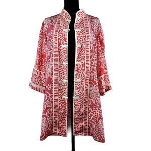 Bob Mackie Kimono L 100% Silk 3/4 Sleeves